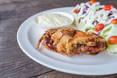 Grilled Soft shell crab salad Royalty Free Stock Images