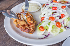 Grilled Soft shell crab salad Royalty Free Stock Photo