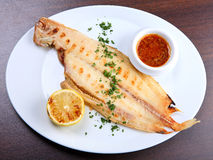 Grilled sole fish Royalty Free Stock Photos
