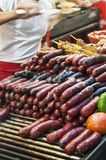 Grilled spanish sausages Stock Image