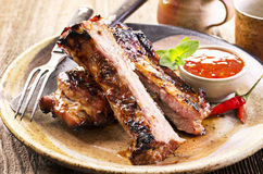 Grilled Spare Ribs Stock Images