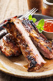Grilled Spare Ribs Royalty Free Stock Photography