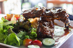 Grilled sparerib Royalty Free Stock Photos
