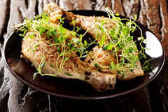 Grilled spicy chicken legs with herbs Stock Photography