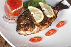 Grilled  spicy dorado Royalty Free Stock Photography
