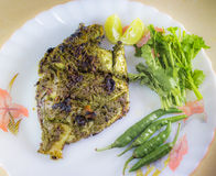Grilled Spicy Pomfret. Yummy & Teasty Royalty Free Stock Images
