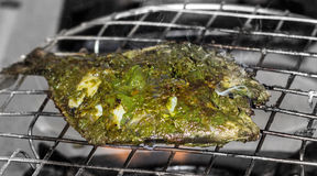 Grilled Spicy Pomfret. Yummy & Teasty preparation Royalty Free Stock Images