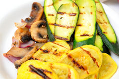 Grilled Squash Royalty Free Stock Images
