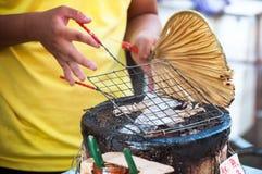 Grilled Squid At Tai Fishing Village, Hong Kong Royalty Free Stock Photo