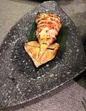 Grilled squid. Japanese grilled squid stock photo