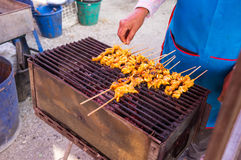 Grilled Squid Street Food Royalty Free Stock Image