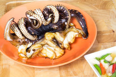Grilled Squid Royalty Free Stock Image