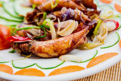 Grilled squid Royalty Free Stock Photo