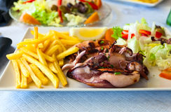 Grilled squids Stock Image