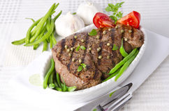 Grilled Steak. Barbecue Royalty Free Stock Image