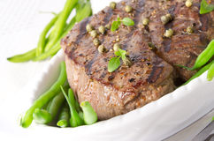 Grilled Steak. Barbecue Stock Image