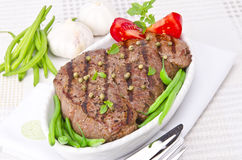 Grilled Steak. Barbecue Royalty Free Stock Photos