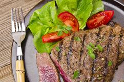 Grilled Steak. Barbecue Stock Photos