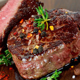 Grilled steak Stock Images