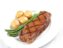 Grilled steak - Juicy beef Stock Images