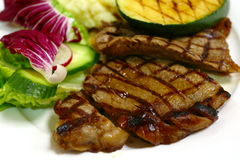 Grilled steak meal side view Stock Image