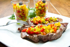 Grilled Steak Meat Royalty Free Stock Photos