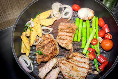 Grilled steak meat Stock Image
