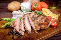 Grilled steak meat Stock Photos
