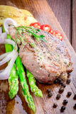 Grilled steak meat Royalty Free Stock Photography