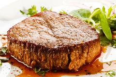 Grilled steak and Royalty Free Stock Photography