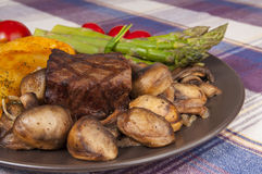 Grilled steak plate Stock Image