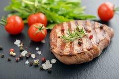 Grilled steak with rukkola Stock Photo