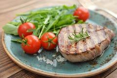 Grilled steak with rukkola Royalty Free Stock Photo