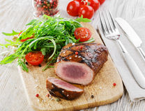 Grilled steak with salad Stock Photo