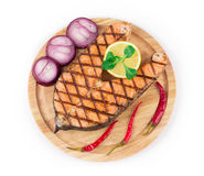 Grilled steak of salmon Royalty Free Stock Photo