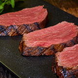 Grilled Steak Slices Stock Photo