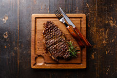 Grilled Steak Striploin Royalty Free Stock Photo