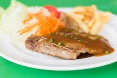 Grilled steak and vegetable salad. A Grilled steak and vegetable salad Stock Photography