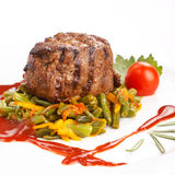 Grilled steak with vegetables Royalty Free Stock Photo