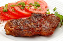 Grilled steak and vegetables Stock Photos