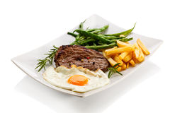 Grilled steak and vegetables Stock Image