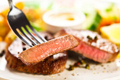 Grilled steak and vegetables Royalty Free Stock Photo