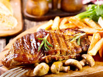 Grilled steak with vegetables Stock Image