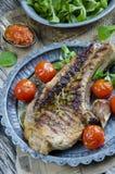 Grilled steak Stock Photos