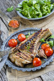 Grilled steak Stock Photos