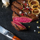 Grilled steaks Stock Photo