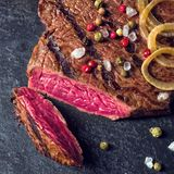 Grilled steaks Royalty Free Stock Images