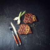 Grilled steaks Royalty Free Stock Image