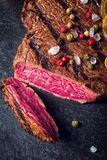 Grilled steaks Royalty Free Stock Photos