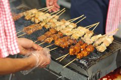 Grilled Street Food. Asian Delicious Grilled Street Food royalty free stock photos